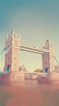 England Tower Bridge Bokeh iPhone 8 wallpaper
