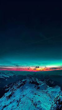 Sky On Fire Mountain Range Sunset  iPhone 6(s)~8(s) wallpaper