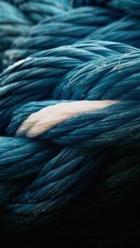 Rope Blue Knot Texture iPhone 6(s)~8(s) wallpaper