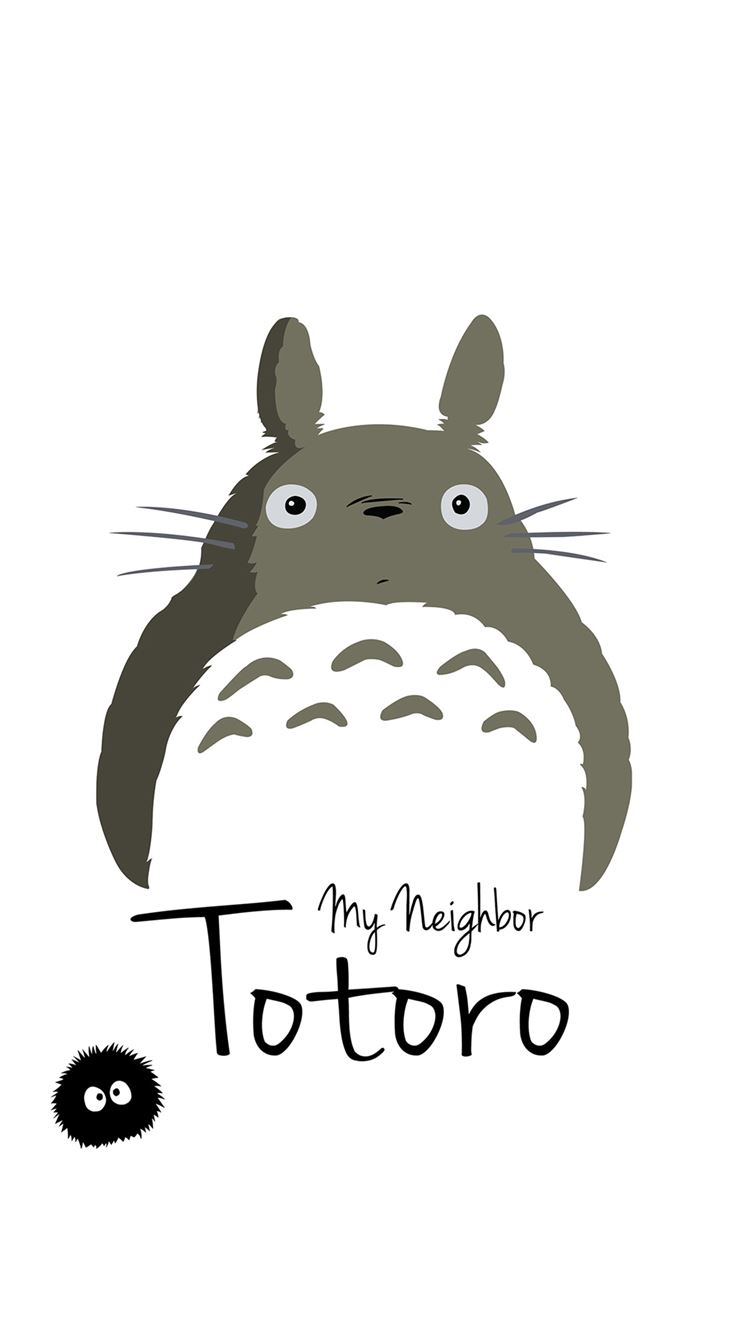 My Neighbor Totoro Art Minimal IPhone 8 Wallpaper