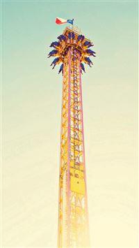 Amusement Park Tower iPhone 8 wallpaper