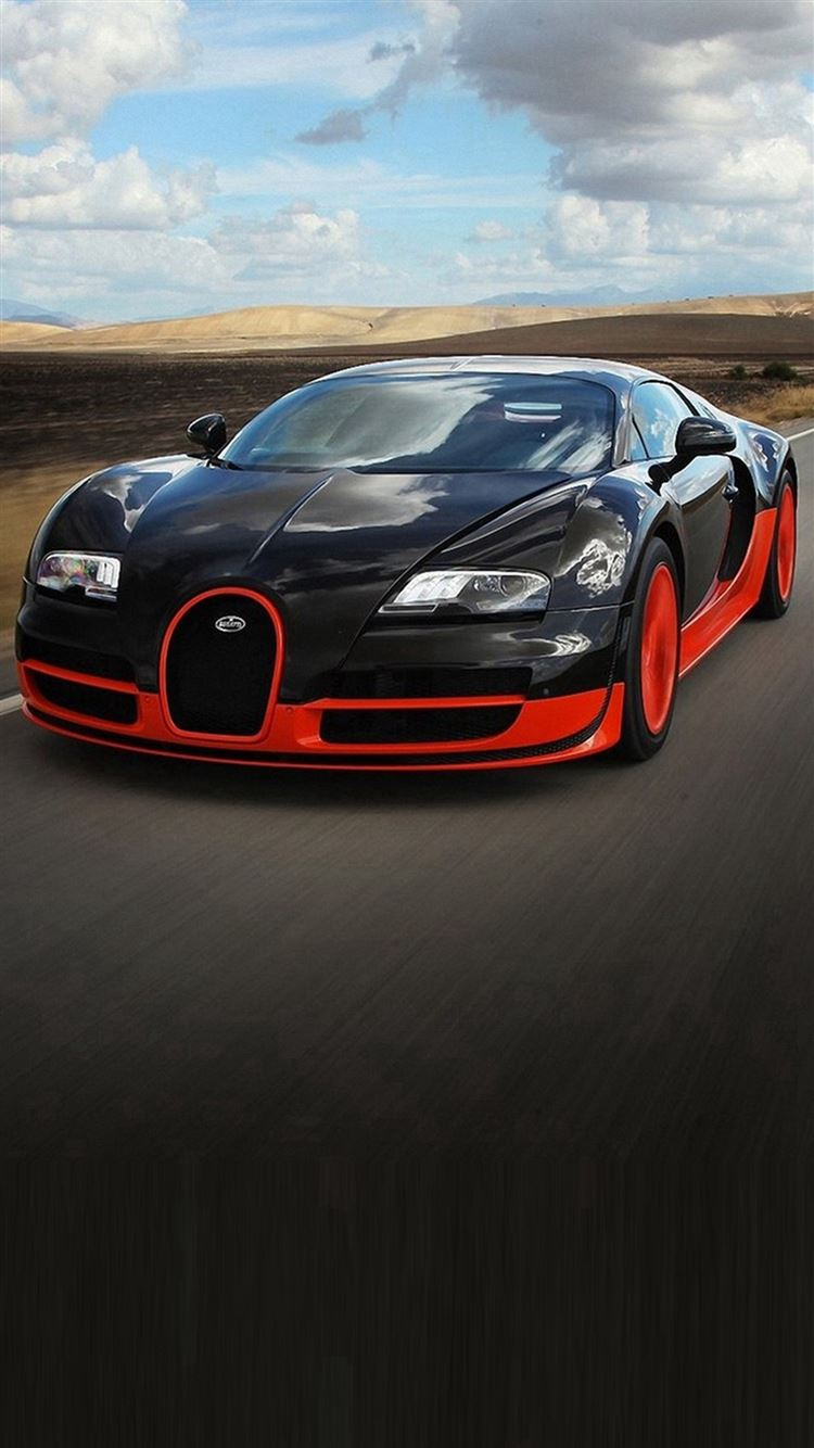 Red And Black Sports Car Iphone  Wallpaper