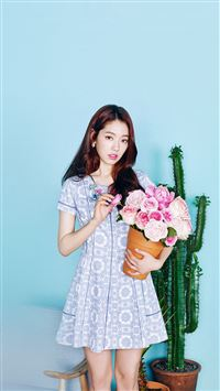 Kpop Park Shinhye Flower Photoshoot Girl iPhone 8 wallpaper