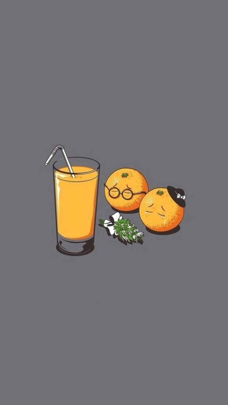 Orange Juice Funeral Funny IPhone 8 Wallpaper