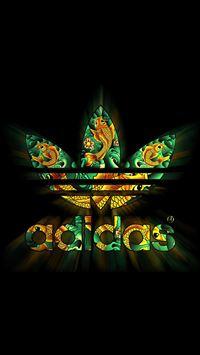Adidas Dark Logo Pattern Shiny iPhone 8 wallpaper