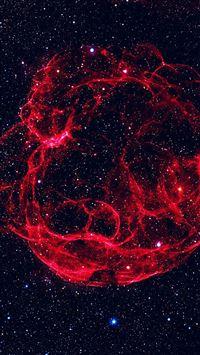 Space Red Blue Bigbang Star Art Nature iPhone 8 wallpaper
