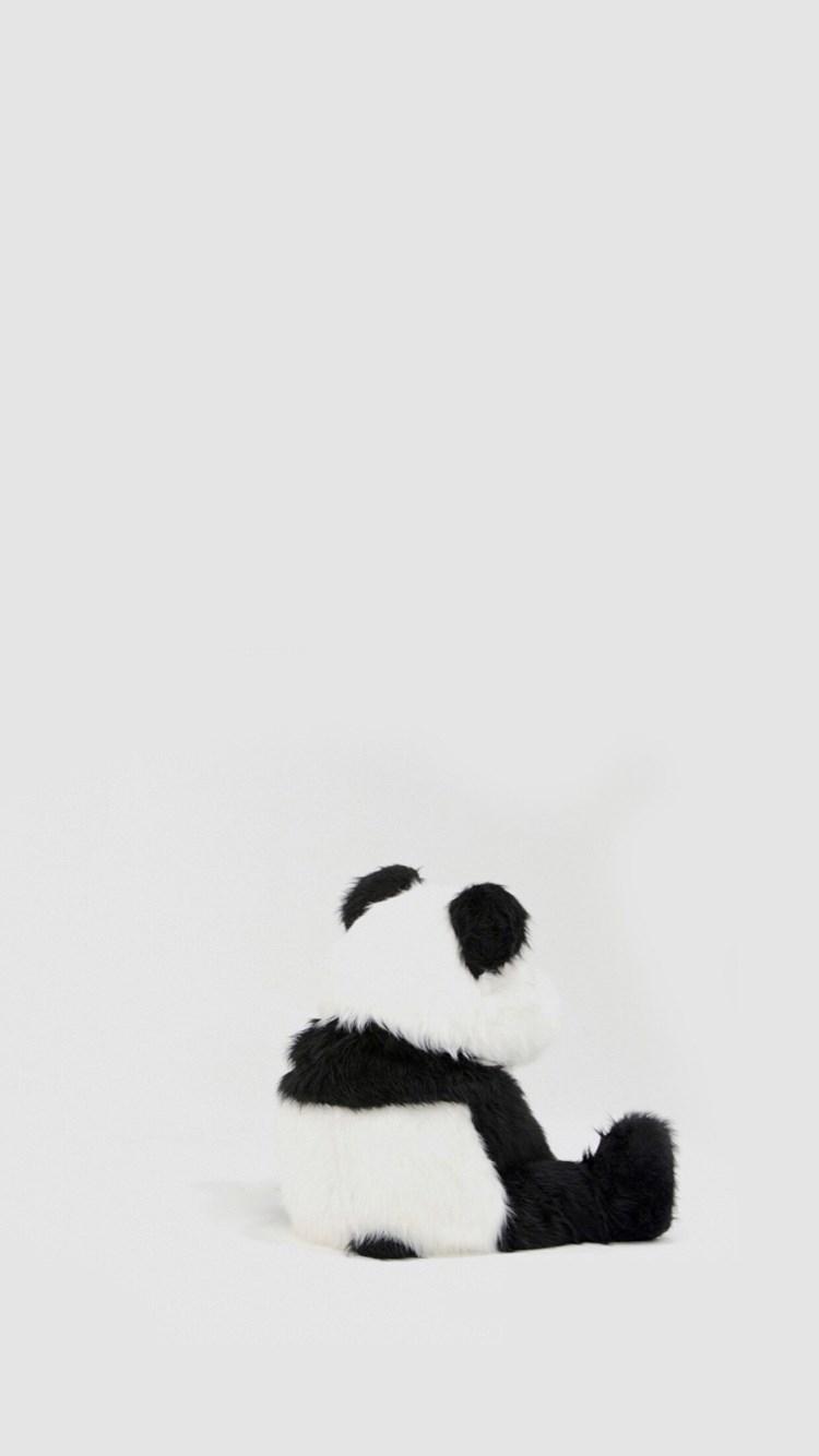 Minimal Simple Panda Back iPhone 8 wallpaper