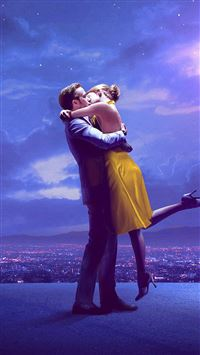 Lalaland Film Movie Purple Blue Poster Illustration Art Jazz iPhone 8 wallpaper