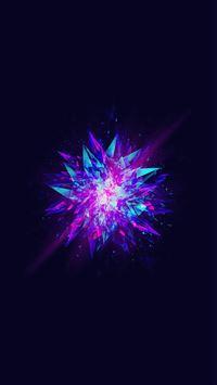 Fractal Blast Minimal Blue Abstract Illustration Art iPhone 6(s)~8(s) wallpaper