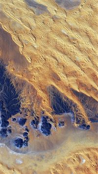 Sahara Desert Earthview Yellow Blue Pattern Nature iPhone 8 wallpaper