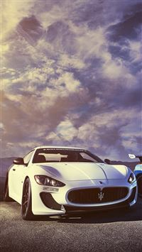 Splendid Maserati Sports Car Sky View iPhone 8 wallpaper