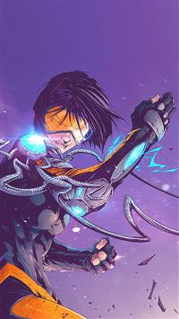 Tonton Revolver Overwatch Game Tracer Illustration Art iPhone 8 wallpaper