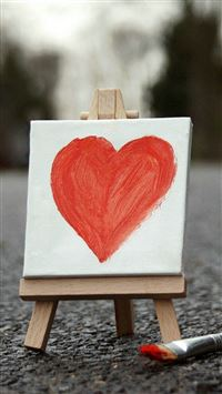 Love Heart Painting Board Artwork iPhone 8 wallpaper