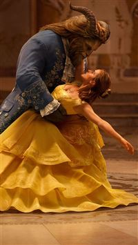 Beauty And The Beast Emma Watson Dancing With Prince iPhone 8 wallpaper