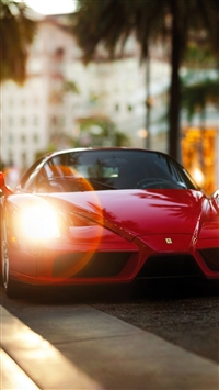 Ferrari Enzo Red Side View iPhone 8 wallpaper