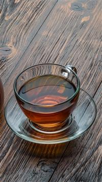 Cup Tea Wooden Party iPhone 8 wallpaper