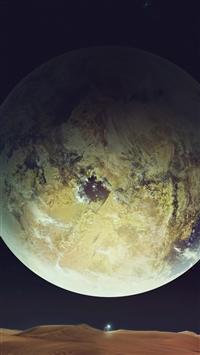 Super Space Planet Sky Dark Landscape iPhone 8 wallpaper