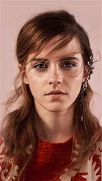 Emma Watson Face Red Film Actress iPhone 8 wallpaper