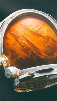 Space Digital Mars Illustration Art iPhone 8 wallpaper
