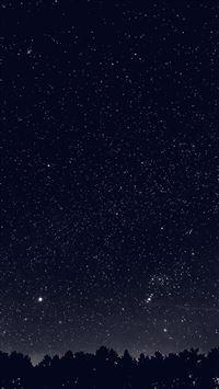 Space Sky Night Dark Nature Bw iPhone 6(s)~8(s) wallpaper