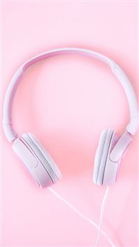 Pure Fashion Headphones Pink iPhone 8 wallpaper