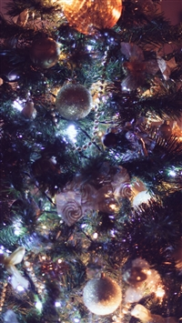 Ornaments Christmas Tree Christmas New Year iPhone 8 wallpaper