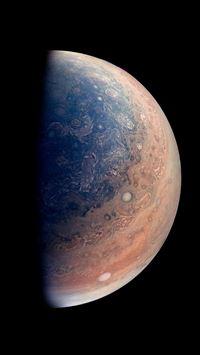 Jupiter Planet As Seen By NASAs Juno Spacecraft iPhone 8 wallpaper
