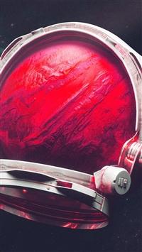 Space Digital Mars Illustration Art Red iPhone 8 wallpaper