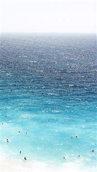 Vacation Beach Sea Blue Summer Water Swim iPhone 8 wallpaper