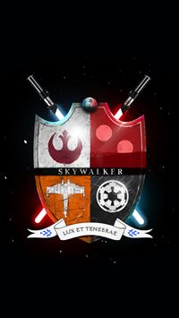 Star Wars Family Crest Skywalker Light And Darkness  iPhone 8 wallpaper