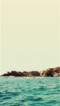 Rocky Beach Ocean Waves iPhone 8 wallpaper