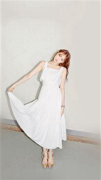Girl Model White Kpop iPhone 8 wallpaper