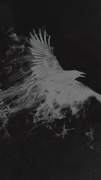 White Bird Smoke Art Illust iPhone 8 wallpaper