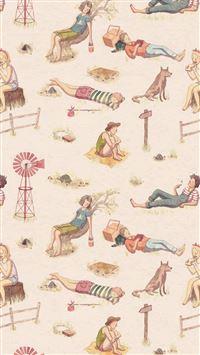 Vacation Life Humor Illustration Art Red iPhone 8 wallpaper