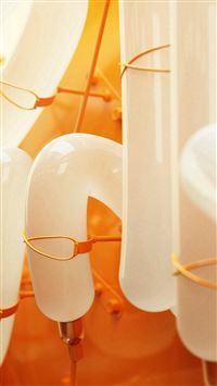 Pump Tube Orange Pattern Background iPhone 8 wallpaper