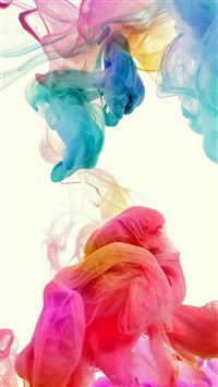 Colorful Ink In Water iPhone 8 wallpaper