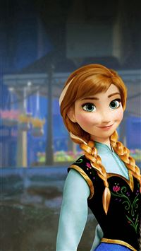 Anna Frozen Disney Movie Illustration iPhone 8 wallpaper