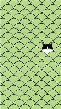 Funny Cat Circles Pattern iPhone 8 wallpaper