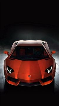 465 0: Lamborghini Sportscar Red IPhone 8 Wallpaper