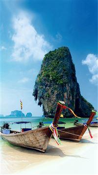 Krabi Island Thailand Beach iPhone 8 wallpaper
