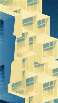 Pattern Building Blue Illustration Art iPhone 8 wallpaper