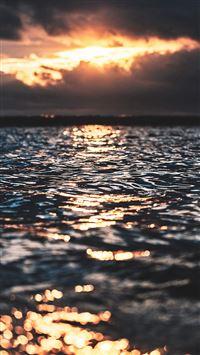 Sea Wave Sun Nature iPhone 8 wallpaper