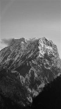 Avalanche Snow Mountain Winter Wood Nature Bw Dark iPhone 8 wallpaper