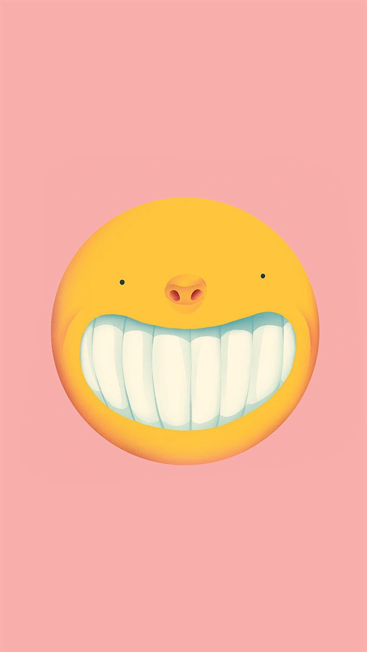 Smile Love Pink Cute Illustration Art iPhone 8 wallpaper