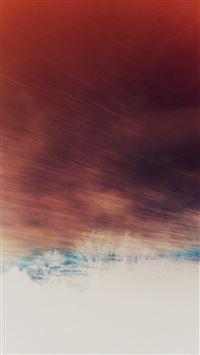 Train Nature Red Sky View Bokeh iPhone 8 wallpaper