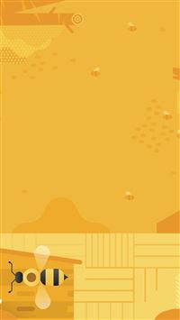 Minimal Honey Yellow Art Illustration Cute iPhone 8 wallpaper