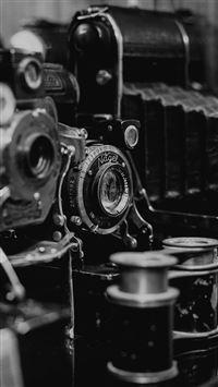 Classical Retro Photos Of Cameras Dark iPhone 8 wallpaper