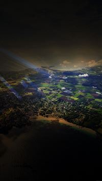 Flight Sunny Day Sky Dark Bokeh High Mountains Nature iPhone 8 wallpaper