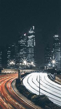 City Car Night View Dark Nature iPhone 8 wallpaper