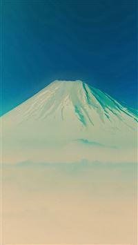 Fuji Blue Mountain Alone iPhone 8 wallpaper